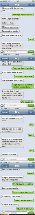 Mobile phone texting autocorrect - Autocowrecks: If Dogs Could Text, Part II