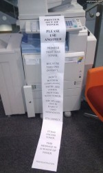 Please use another printer