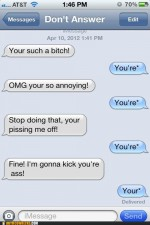 Mobile phone texting autocorrect – Autocowrecks: You've Brought This Upon Yourself, Grammar Hea