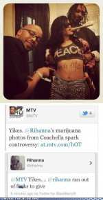 Monster fail photos – Music FAILS: Rihanna Celebrates 4/20