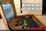 White trash repairs – There I Fixed It: Laptop Repair Level: College Student