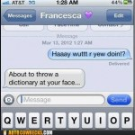 Mobile phone texting autocorrect – Autocowrecks: Maybe We Can Beat Some Grammar Into You