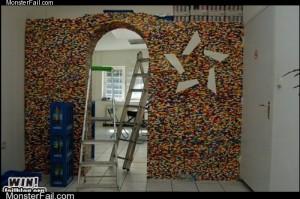 Monster fail photos - WIN!: LEGO Wall Divider WIN