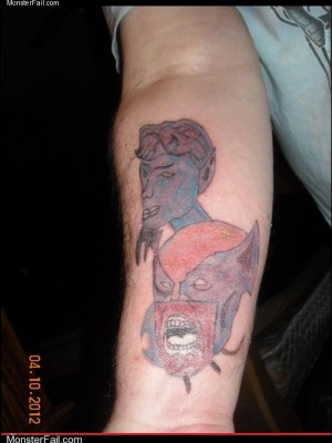 Funny tattoos - Ugliest Tattoos: The Untalented X-Men