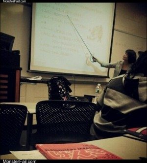Homework class test: Who Needs a Laser Pointer When You Have a Mother Effin' Sword