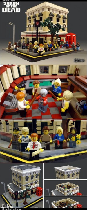Monster fail photos WIN Shaun of the Dead Legos WIN