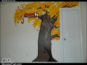 Monster win photos WIN Calvin  Hobbes Mural WIN