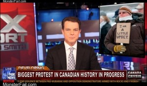 Monster fail  Canadian Protest FAIL