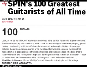 Spin Names Skrillex the 100th Greatest Guitarist of All Time