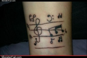 Funny tattoos Ugliest Tattoos Must Be a Katy Perry Song