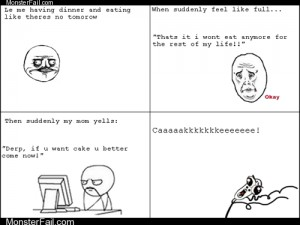 Internet memes Rage Comics Theres Always Room for Cake