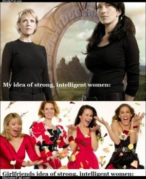 Strong intelligent woman
