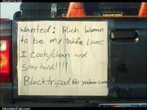 Rich woman wanted