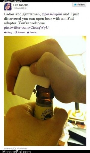 White trash repairs  No Bottle Opener