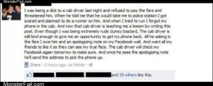 Cab driver trolling