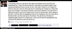 Cab driver trolling