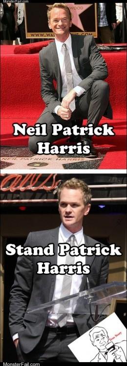 Kneel Patrick Harris