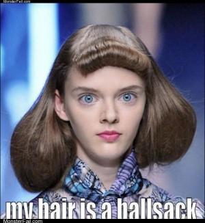 My hair is