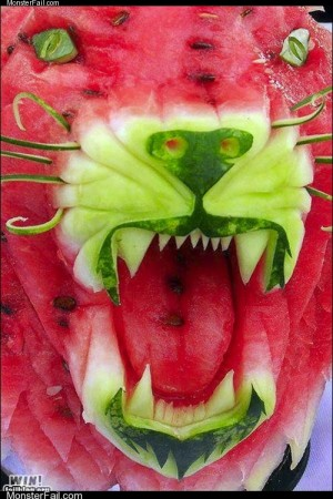 Monster win photos WIN Watermelon Carving WIN