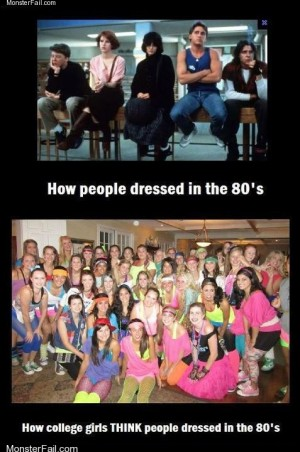 Fashion fail Poorly Dressed False the Entire Decade Was Neon