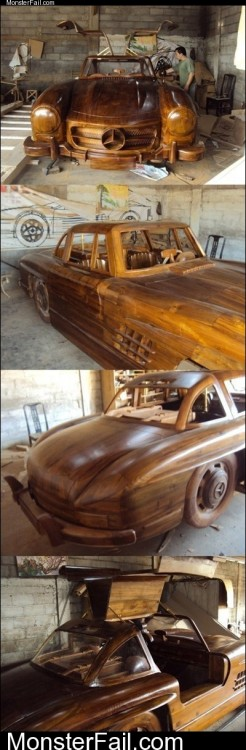 Monster Wooden Mercedess