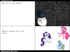 Homework class test  Who Can Do Math When Bronies are On the Brain