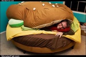 Burger bed