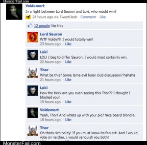 Funny facebook fails  Trolldemort