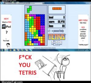 Tetris trolling