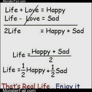 Calculation of real life