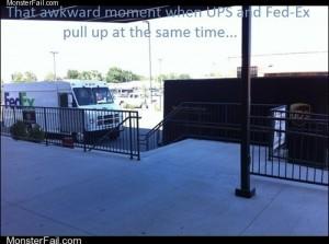 Awkward UPS vs FedEx