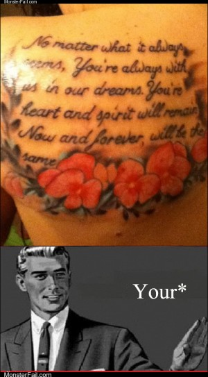 Monster fail photos Ugliest Tattoos TLDR