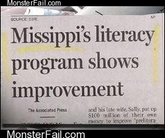 Monster fail  Literacy FAIL