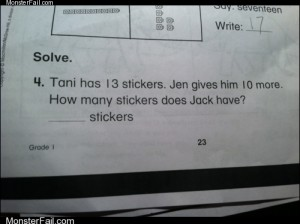 Monster fail  Unsolvable Question FAIL