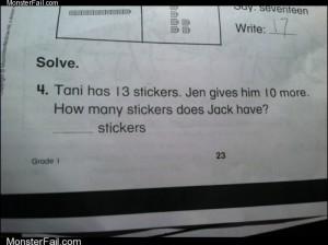 Monster fail  Unsolvable Question FAIL