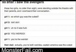 After I Saw The Avengers