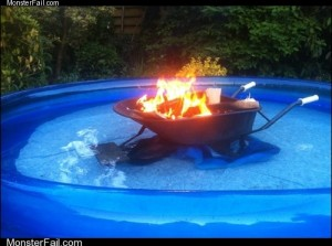 White trash repairs  Hot Tub Level Super Redneck