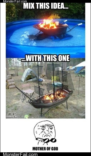 White trash repairs  Hot Tub Level Redneck Pirate What