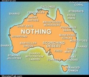 Australia Not For the Faint of Heart