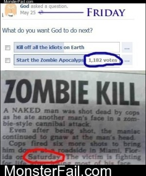 God Reads His FB