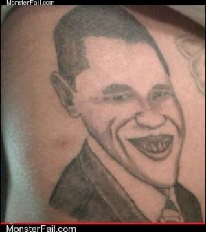 Funny tattoos Ugliest Tattoos President Joker