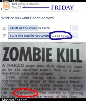 Funny facebook fails  God Now Governs By Majority Rule