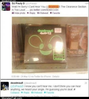 Funny facebook fails  Shortly Afterwards Deadmau5 Changed His Name to Burnedmau5