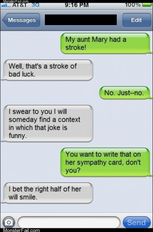Mobile phone texting autocorrect  That Joke is Only Half Funny