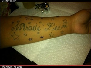 Monster fail photos Ugliest Tattoos Do You Believe in Mirades