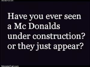 Mcdonalds under construction