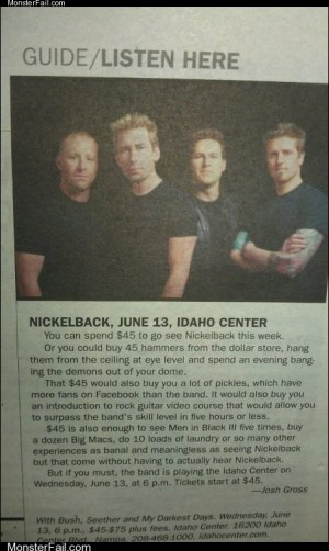 What You Can do With the Money You Dont Spend on Nickelback