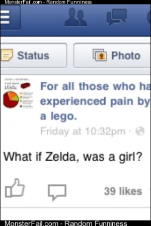 Fucking hate this if zelda was a girl8221 WTF and its a face book page so go hate