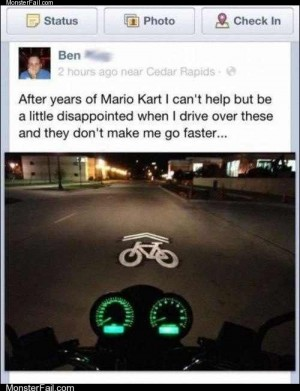 Funny facebook fails  That Wasnt a Koopa Shell That Was a Fender Bender