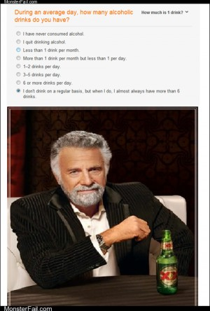 I Dont Always Take These Tests